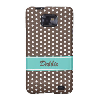 Brown and white polka dots Samsung Galaxy case Galaxy SII Cases