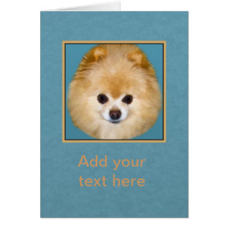 Brown and White Pomeranian Dog Card