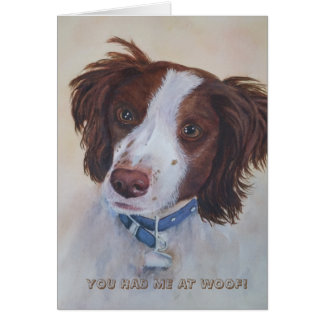 BROWN AND WHITE RETRIEVER | GREETING CARD