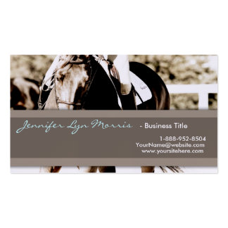 Brown and White Show Horse Business Cards