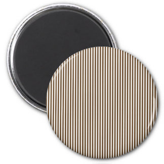 Brown and White Stripes Magnet