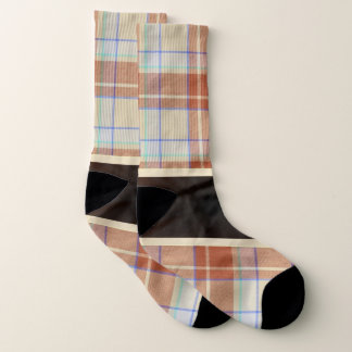 Brown and white tartan plaid 1