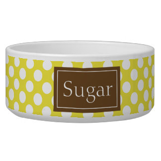 Brown And Yellow Polka Dots Pattern With Name