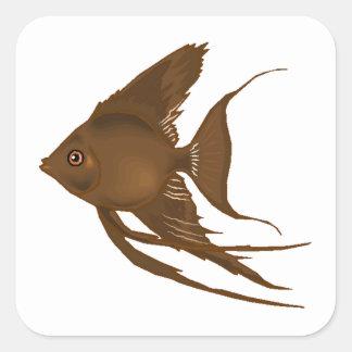 Brown Angel Fish Sticker