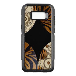 Brown Animal Pattern Design OtterBox Commuter Samsung Galaxy S8+ Case