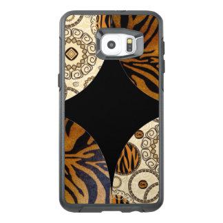 Brown Animal Print Pattern Design OtterBox Samsung Galaxy S6 Edge Plus Case