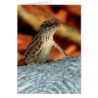 Brown Anole (Lizard) Greeting Card