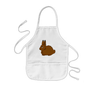 Brown Arctic Hare Kids Apron