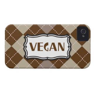 Brown Argyle Vegan Pride iPhone 4 Case-Mate Cases