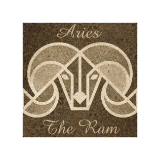Brown Aries, The Ram Horoscope Astrology Wall Art