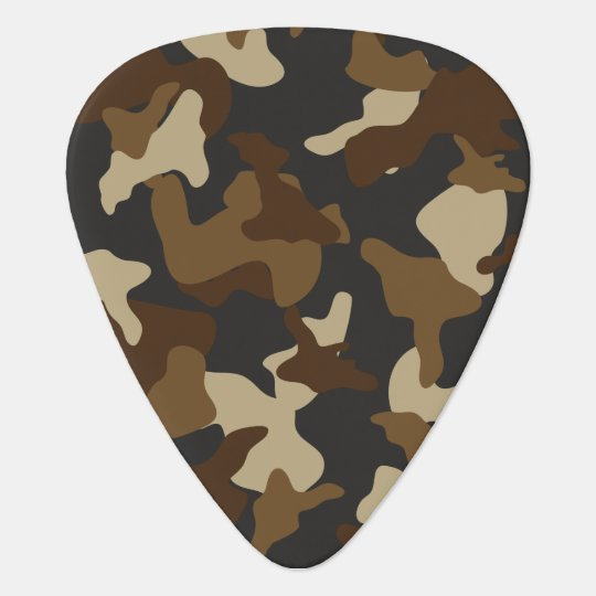 Brown army camo camouflage pattern plectrum