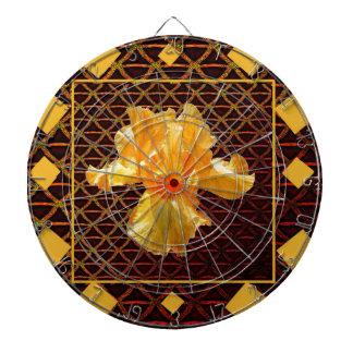 BROWN ART DIAMOND  PATTERN GOLDEN BEARDED  IRIS DARTBOARD
