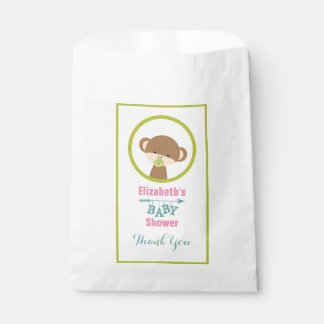 Brown Baby Monkey with Pacifier Baby Shower Thanks Favour Bag