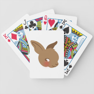 brown baby rabbit face bicycle playing cards