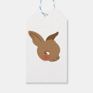 brown baby rabbit face gift tags
