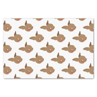 brown baby rabbit face tissue paper