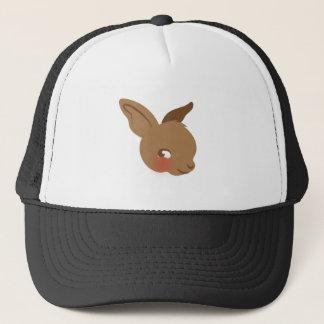 brown baby rabbit face trucker hat