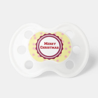 Brown Baby's First Merry Christmas  Pacifier