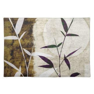 Brown Bamboo Moon Fall Leaves Placemat