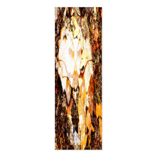 Brown bark and leaves on ground texture business cards