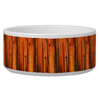 brown barn boards dog food bowls