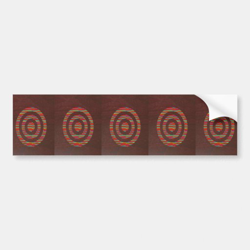 Brown base SYMBOLs Flowers Globe YinYang lowprices Bumper Stickers