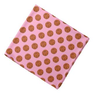 Brown Basketball Balls on Carnation Pink Bandana