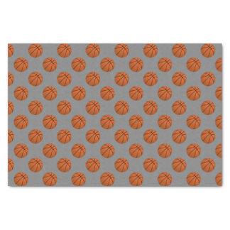 Brown Basketball Balls on Medium Gray Tissue Paper