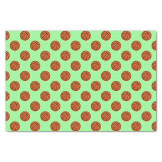 Brown Basketball Balls on Mint Green Tissue Paper