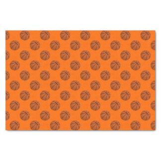 Brown Basketball Balls on Orange Tissue Paper