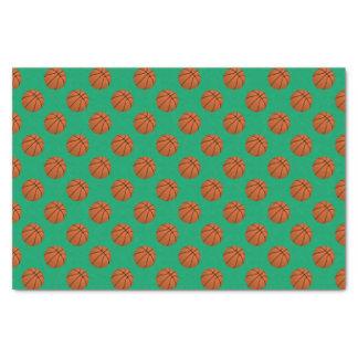 Brown Basketball Balls on Shamrock Green Tissue Paper