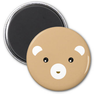 Brown Bear 6 Cm Round Magnet