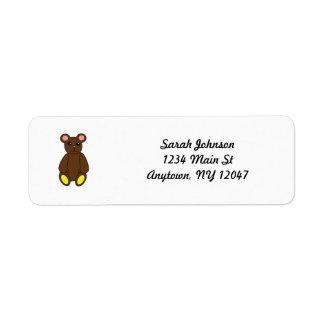 Brown Bear Avery Label