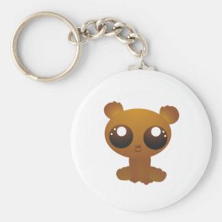 Brown Bear Basic Round Button Key Ring