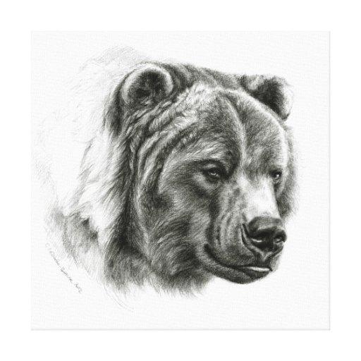 Brown Bear by Svetlana Ledneva-Schukina G054 Stretched Canvas Prints