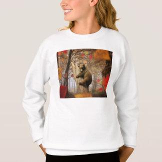 Brown bear climbing on tree sweatshirt