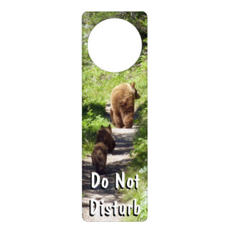 Brown Bear Family Door Hanger