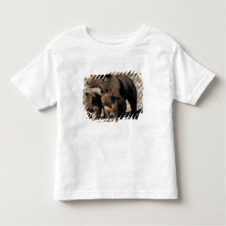 Brown bear, grizzly bear, sow with cubs looking t-shirts