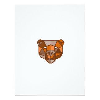 Brown Bear Head Low Polygon 11 Cm X 14 Cm Invitation Card