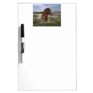 Brown Bear in a Field Dry Erase Whiteboard