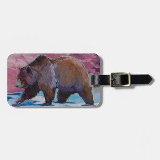Brown Bear in Utah, Walking by the Rocks Luggage Tag