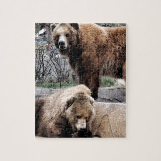 Brown bear jigsaw puzzle