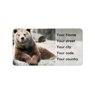 Brown Bear Label