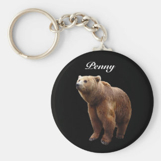Brown Bear Personalized Key Ring