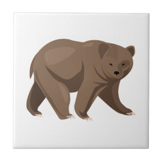 Brown Bear Small Square Tile