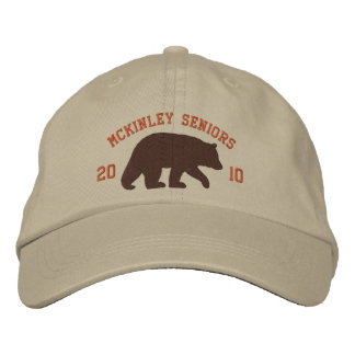 Brown Bear with Customizable Text Embroidered Hat