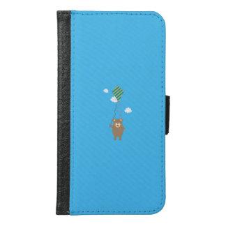 Brown Bear with Kite Q1Q Samsung Galaxy S6 Wallet Case