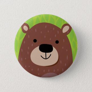 Brown Bear - Woodland Friends 6 Cm Round Badge