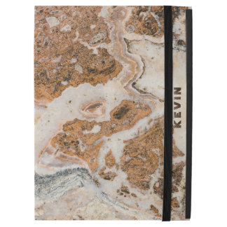 "Brown & Beige Marble Stone iPad Pro 12.9"" Case"