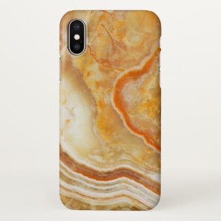 Brown & Beige Marble Texture iPhone X Case